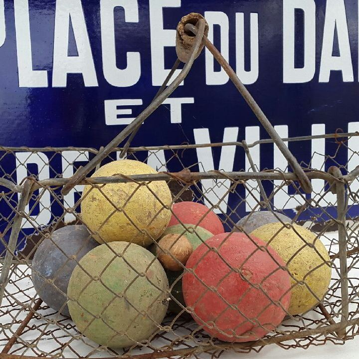 Franske boules kugler i træ