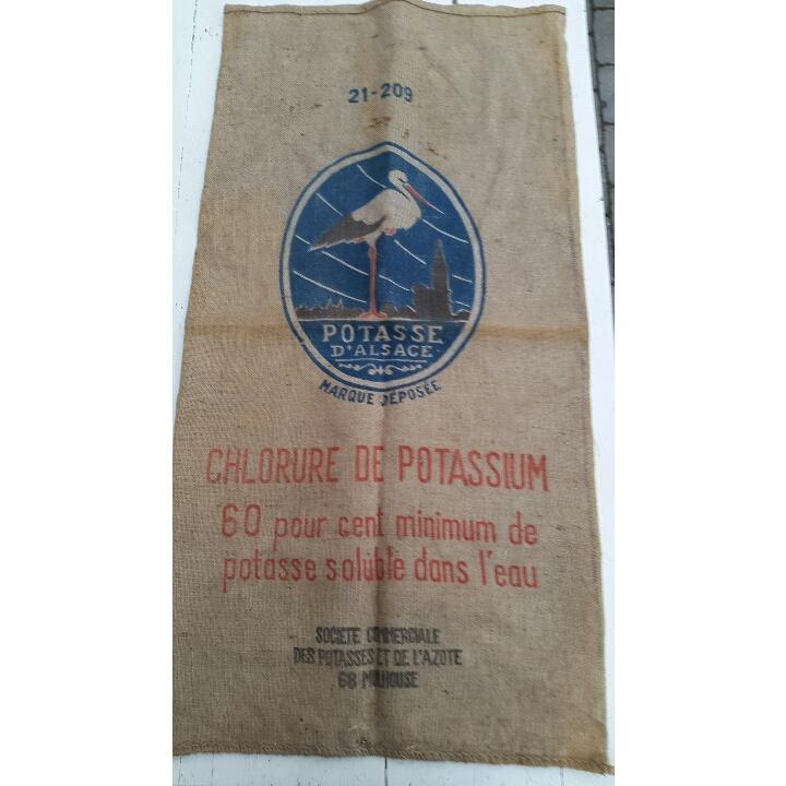Fransk vintage lærredssæk