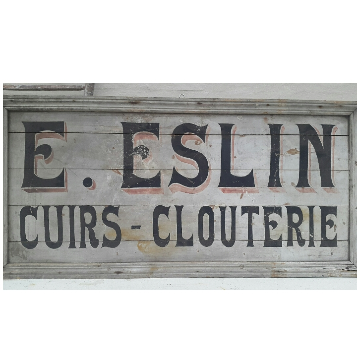 Fransk butiksskilt