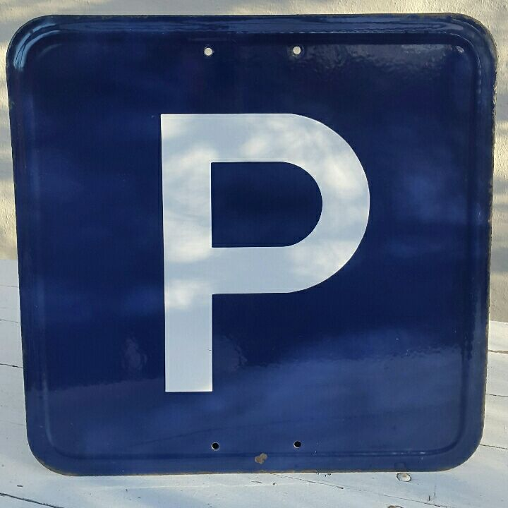 Parkering emaljeskilt
